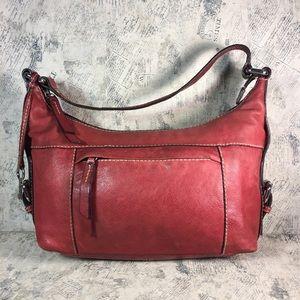 Fossil Red Leather Shoulder bag